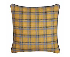 Cuscino decorativo a scacchiera 45 x 45 cm multicolore DICENTRA