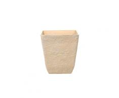 Vaso quadrato per interno ed esterno beige 49x49x53cm DELOS