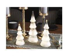 Set di 3 alberi di Natale decorativi bianchi con luci LED KIERINKI