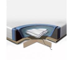 Set per letto ad acqua - Materasso ad acqua 160x200cm - 2 riscaldamenti - Coprimaterasso - Struttura in schiuma - Piattaforma - Balsamo