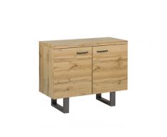 Credenza a 2 ante colore legno naturale TIMBER