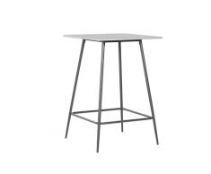 Tavolo da bar grigio e nero 70 x 70 cm VELTA