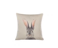 Cuscino decorativo in cotone 45 x 45 cm grigio talpa QUERCUS
