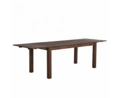 Tavolo da pranzo estendibile in legno marrone scuro 150 x 85 cm MAXIMA