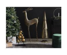 Statua decorativa a forma di renna colore oro PELLO
