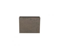 Vaso rettangolare per interno ed esterno marrone scuro 25x60x45cm EDESSA