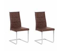 Set di 2 sedie da pranzo in marrone scuro ROCKFORD