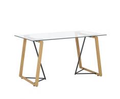 Tavolo da pranzo colore legno chiaro / nero 140 x 80 cm TACOMA