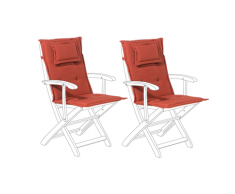 Set di 2 cuscini per sedia da giardino bordeaux MAUI