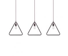 Set di 3 lampade a sospensione in metallo marrone JURUENA
