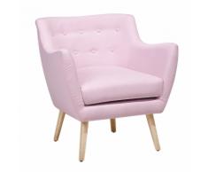 Poltrona in tessuto rosa pastello - DRAMMEN