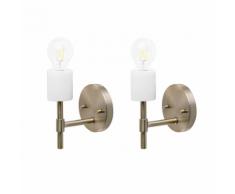 Set di 2 lampade da parete in metallo oro ARMERIA