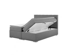 Letto boxspring grigio con contenitore 180x200cm LORD