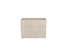Vaso rettangolare per interno ed esterno beige 25x60x45cm EDESSA
