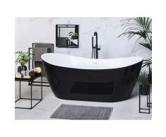 Vasca da bagno freestanding con idromassaggio e luci LED 180 cm nero ANTIGUA