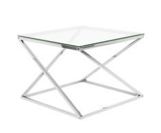 Tavolino in vetro color argento BEVERLY