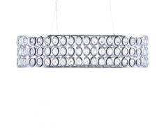 Lampada da soffitto in color cromo e cristallo TENNA L