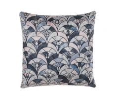 Cuscino decorativo 45 x 45 cm blu/beige KOODAL