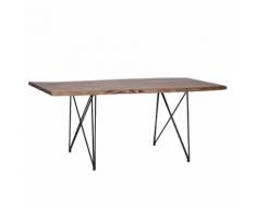 Tavolo da pranzo 180x90cm marrone MUMBAI