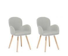 Sedia grigia con design moderno - Sedie da pranzo imbottite - BROOKVILLE