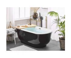 Vasca da bagno freestanding nera ovale 170 cm TESORO