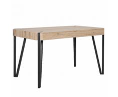 Tavolo da pranzo in color legno chiaro e nero 130x80cm CAMBELL