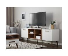 Mobile TV in color bianco e noce ALLOA