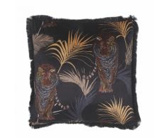 Cuscino decorativo con stampa di tigre 45 x 45 cm nero RAMTEK