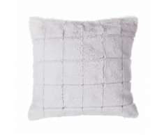 Cuscino decorativo a quadri 45 x 45 cm beige