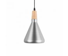 Lampadario in metallo color argento ARDA