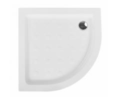 Piatto doccia bianco 80 x 80 x 70 cm SIUNA