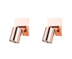 Set di 2 lampade da parete color rame TIGRIS