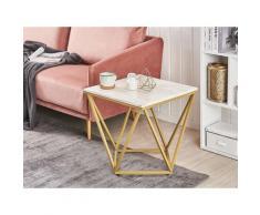 Tavolino da Caffè effetto Marmo e Oro MALIBU