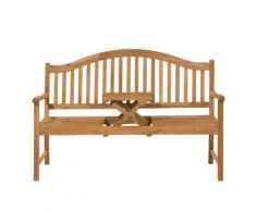 Panchina da giardino 2 posti in legno con tavolino HILO