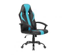 Sedia da ufficio in similpelle azzurro e nero SUCCESS