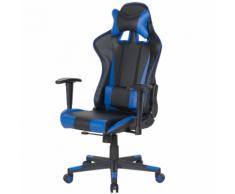 Sedia da ufficio scrivania blu scuro e nero RACER