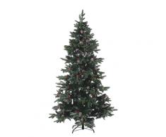 Albero di Natale artificiale cosparso di neve 180 cm verde DENALI