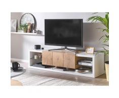 Mobile TV bianco e in legno chiaro FULERTON