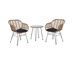 Set di 2 sedie e un tavolino da balcone TROPEA