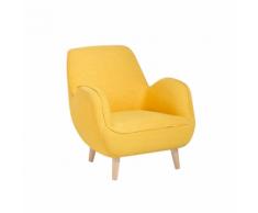 Poltrona moderna in tessuto giallo KOUKI