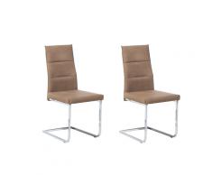 Set di 2 sedie da pranzo in colore beige ROCKFORD