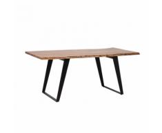 Tavolo da pranzo moderno con piano in legno 180x90cm JAIPUR