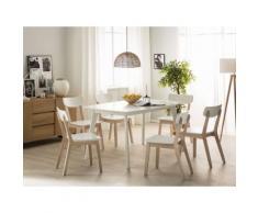Tavolo da pranzo allungabile in MDF laminato bianco 150cm SANFORD
