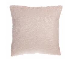Cuscino decorativo superficie irregolare 45 x 45 cm rosa