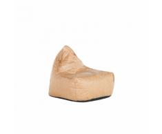 Poltrona sacco in poliestere marrone DROP