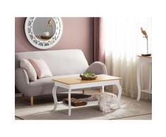Tavolino da caffè bianco e legno marrone HARTFORD