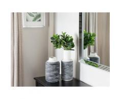 Vaso di fiori decorativo bianco e grigio PELLA