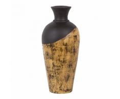 Vaso decorativo marrone scuro e legno chiaro BONA II