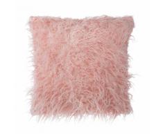Cuscino decorativo in pelliccia finta 45 x 45 cm rosa DAISY
