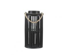 Lanterna in legno di salice nero 40 cm LUZON